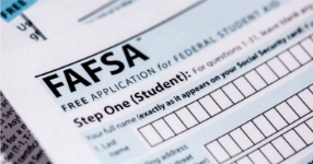Image of a FAFSA application