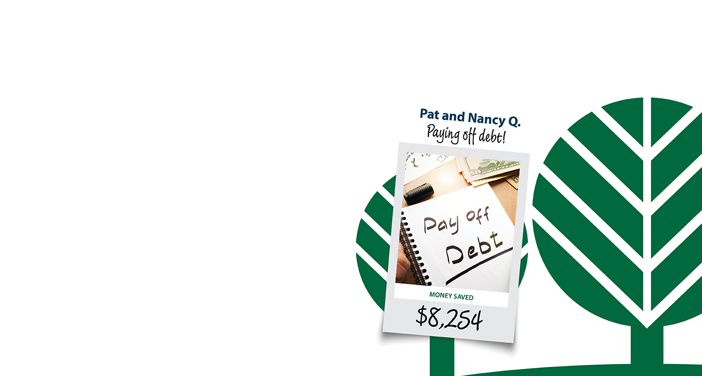 September Member Saves Banner, Includes image of paying off debt for members that saved $8,254 by refinancing to MMFCU